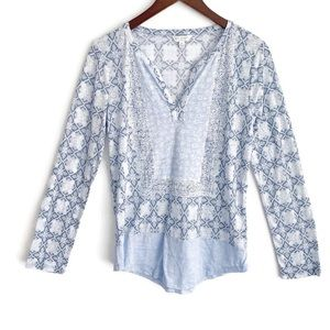 Lucky Brand Shades of Blue Top Size S